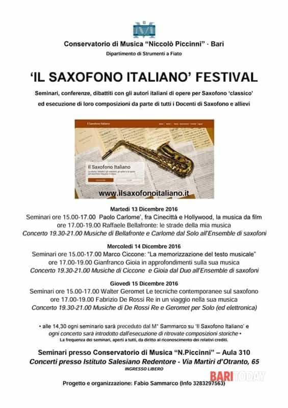 Festival del saxofono italiano